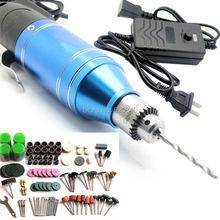 2015 Nueva ElectricTools, Ajustable 2-en-1 Mini Taladro Eléctrico + destornillador + 161/pcs talla bruñido máquina de perforación de Múltiples Funciones