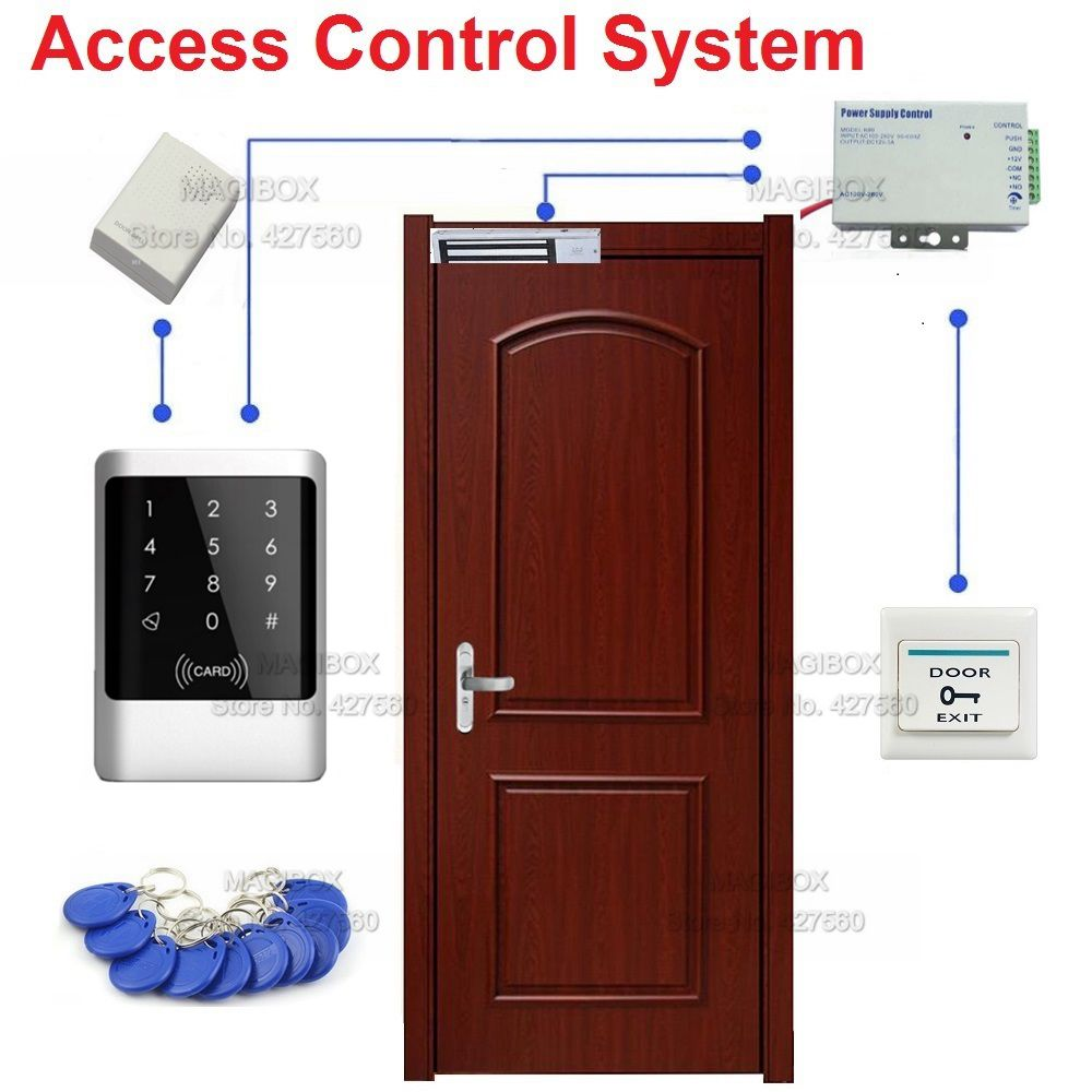 ip68 125khz rfid waterproof touch keypad door access control system set 280kg 600lbs magnetic. Black Bedroom Furniture Sets. Home Design Ideas