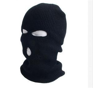 2013 New Fashion Woolen Blend 3 holes Knit Ski Mask Hats Brand Unisex Winter Warm Full Face Cover(China (Mainland))