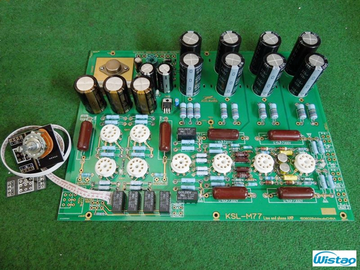 Tube MM Phono Stage Amplifier Board PCBA KONDO M77 Circuit Vinyl LP Amp Preamp No Including Tubes RIAA HIFI Audio Free Shipping(China (Mainland))