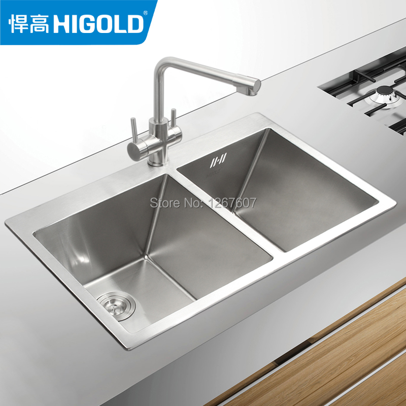 Grades Of Stainless Steel Sinks : HIGOLD / defended high grade 304 stainless steel sink kitchen sink ...