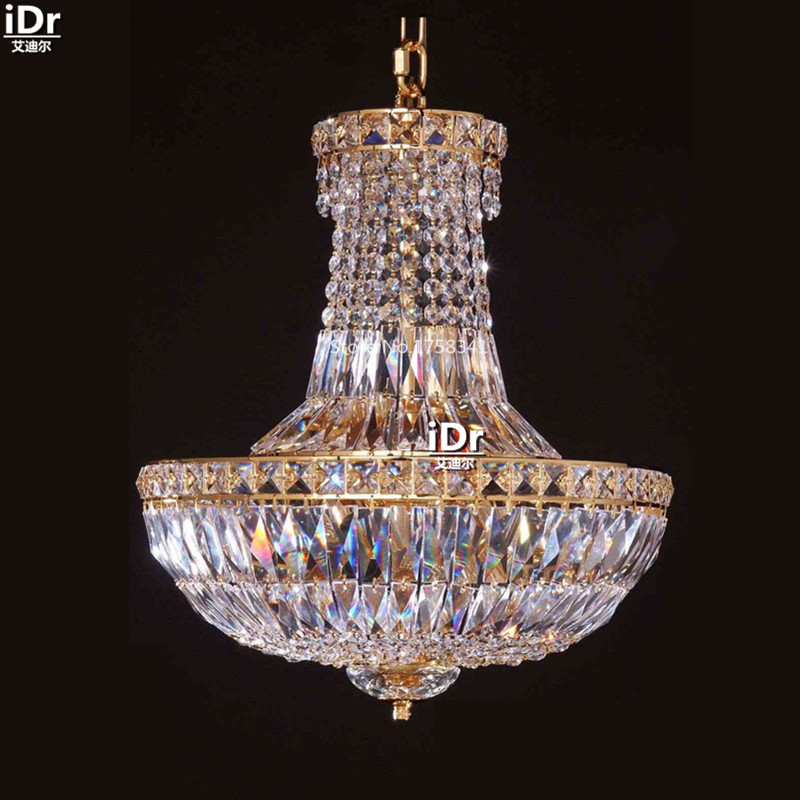 Chandeliers Small Iron Hanging Lamp Crystal Lamp Bedroom Lamp Study Hall Lights 38cm W X 45cm H