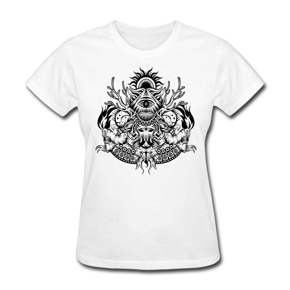 Wholesale Pre Cotton Women T Shirt Space Illuminati