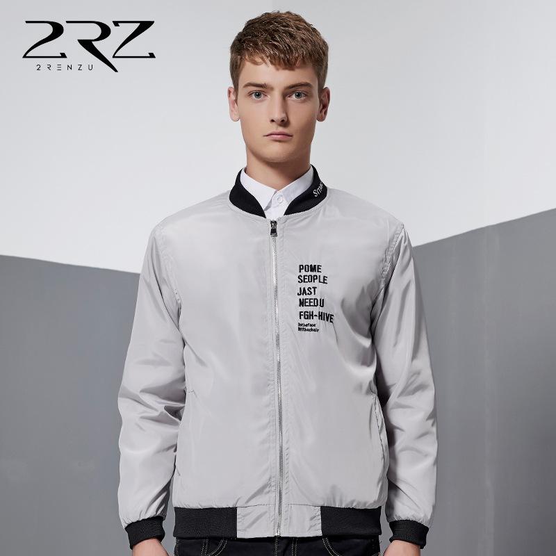 Fall men's baseball uniform jacket Korean version of fashion clothes printing Slim thin coat cheap youth jackets(China (Mainland))