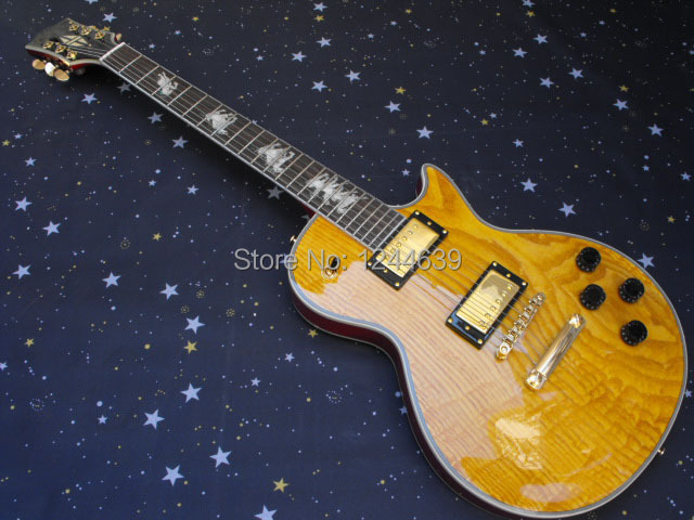 new arrival perfect one-piece set neck G L P custom mahogany body Electric Guitar free shipping #29(China (Mainland))