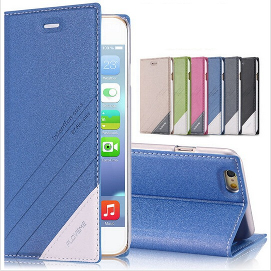 i6/6 Plus Magnetic Flip Luxury Fashion Leather Case For Apple iPhone 6 4.7/ plus 5.5 Cover Wallet Stand Original Logo Shockproof(China (Mainland))