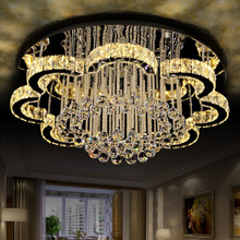 Luxury crystal LED to absorb dome light adjustable light stainless steel can be customized