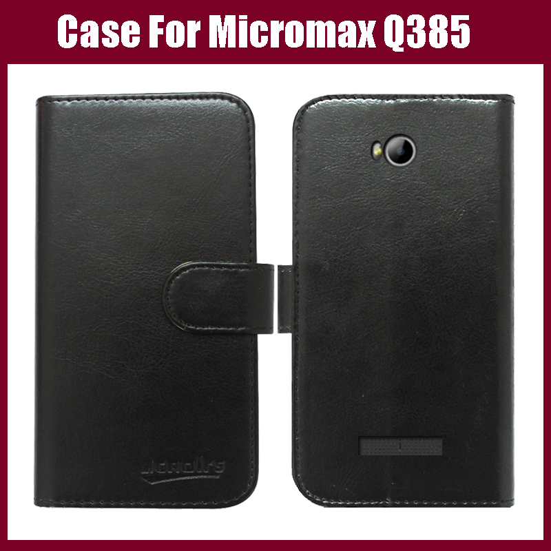 High Quality android phone leather case protective cover for Micromax Canvas Spark 3 Q385 case 6 colors for choice in stock(China (Mainland))