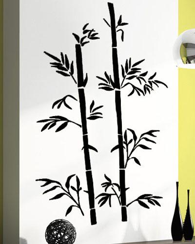 2015 New Fashion Chinese Wall Sticker Bamboo Wall Art Asia Style Room Decor(China (Mainland))