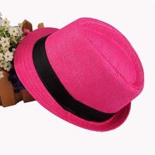 2015 Hot Sale Trendy Unisex Fedora Trilby Gangster Cap For Women Summer Beach Sun hats Straw Panama Hat Men Fashion Jazz Hats(China (Mainland))