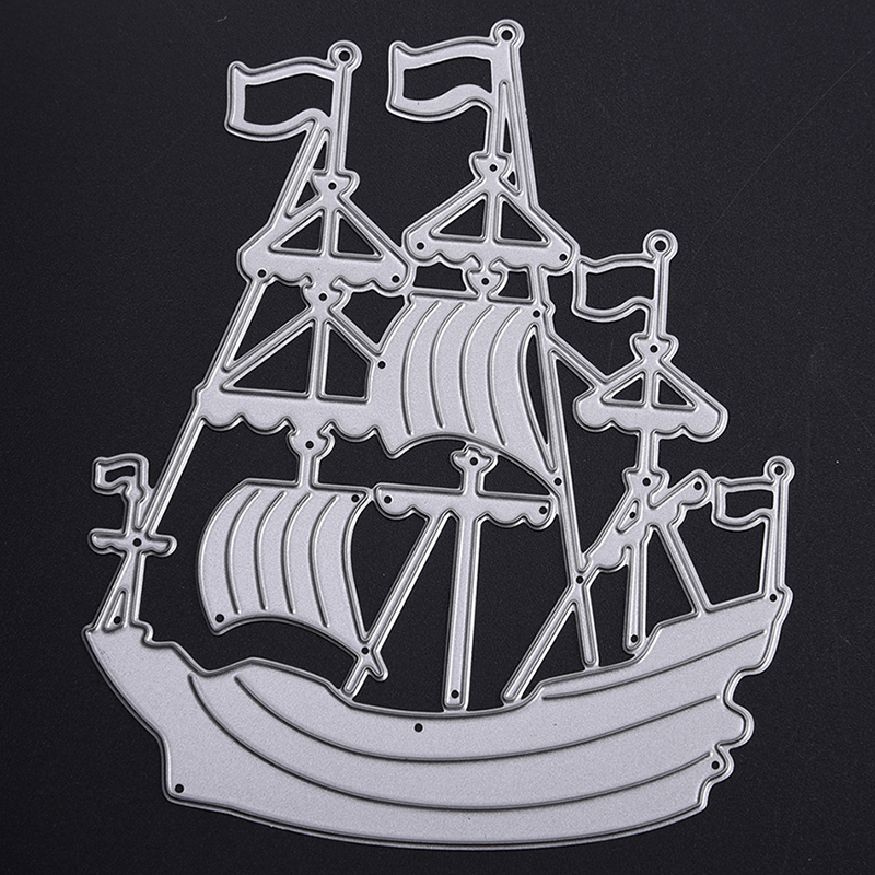 YLCD459 Sailboat Metal Cutting Dies For Scrapbooking Stencils DIY Album Cards Decoration Embossing Folder Die Cuts Template Mold