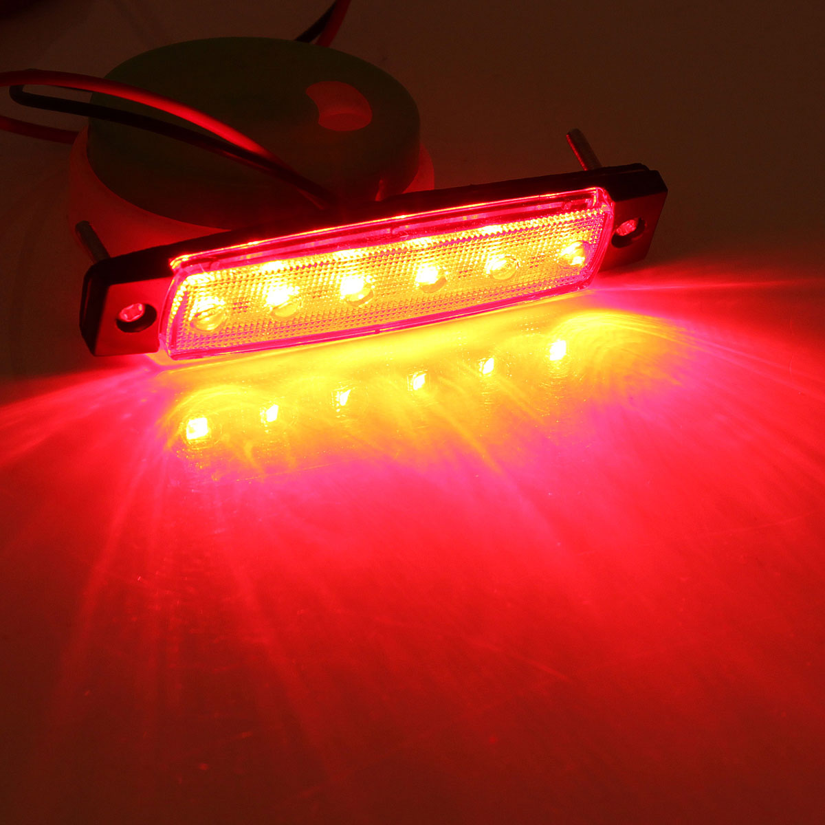 Brand New Red 12V 6 LED Bus Truck Trailer Lorry Side Markers Indicator Light Sidelamp<br><br>Aliexpress