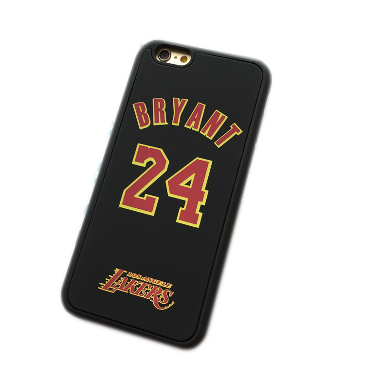Brand new NBA jersey case for iPhone 6 4.7 6s plus 5.5 Kobe Bryant jersey 8 24 mobile phone back cover(China (Mainland))