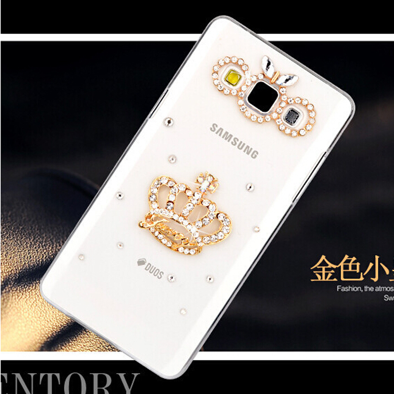 Fashion Imperial crown Bling Transparent diamond Cell Phone Back Cover Skin Hard Case For LG Optimus G Pro E980 F240 F240k F240s(China (Mainland))
