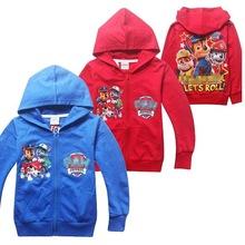 Boys Puppy Patrol Hoodies Sweatshirts  Autumn Style Thin Cotton Jacket For Kids 4T-8T(China (Mainland))