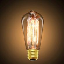 Edison Bulb E27 220v  Edisons Lamp Retro Edison Bulbs 40w ST64 ST58 Ball Bubble Light For Pendant Lamps(China (Mainland))