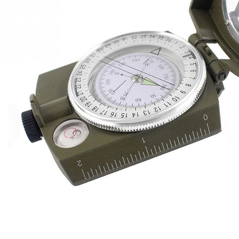 Portable Military Compass Multifunctional Outdoor Camping Tools Army Lensatic Prismatic Compass with Fluorescent Light + 1PC Bag(China (Mainland))