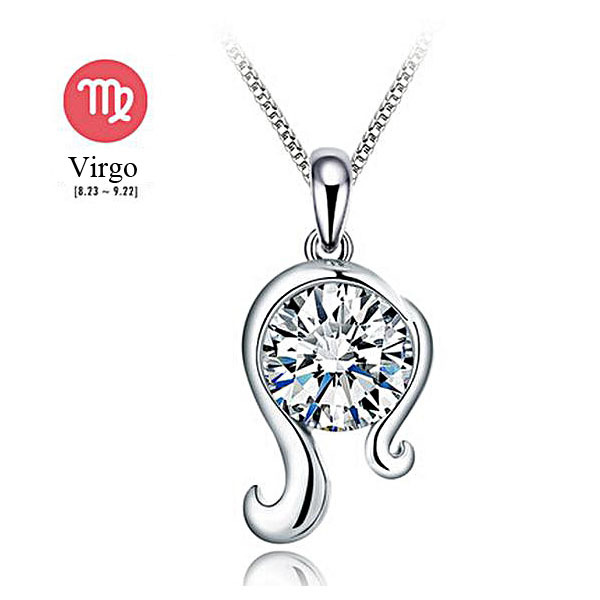 mothers day gifts for mom nickel free 925 sterling silver jewelry virgo necklace(China (Mainland))
