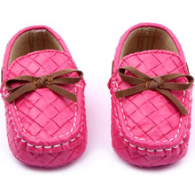 New Baby Toddler Girls Boys Loafers Soft Faux Leather Flat Slip-on Crib Shoes 0-12M (China (Mainland))