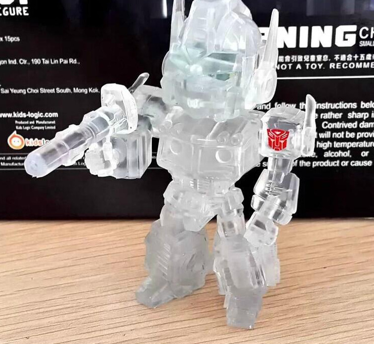 American anime figure PVC Transformetion doll toys Transparent Q version car model toy robot movie Series 9CM free shipping(China (Mainland))