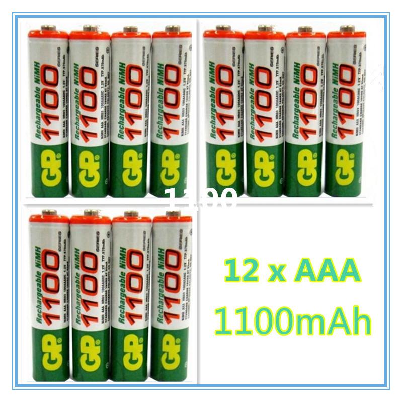 Гаджет  Brand New 2015 0riginal 12pcs/Lot High energy GP 1.2V NiMh AAA 1100 mAh Battery Rechargeable AAA Batteries free drop shipping None Электротехническое оборудование и материалы