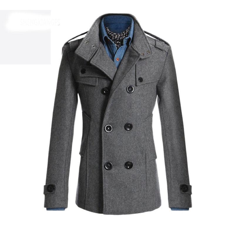 Mens Winter Pea Coat Promotion-Shop for Promotional Mens Winter