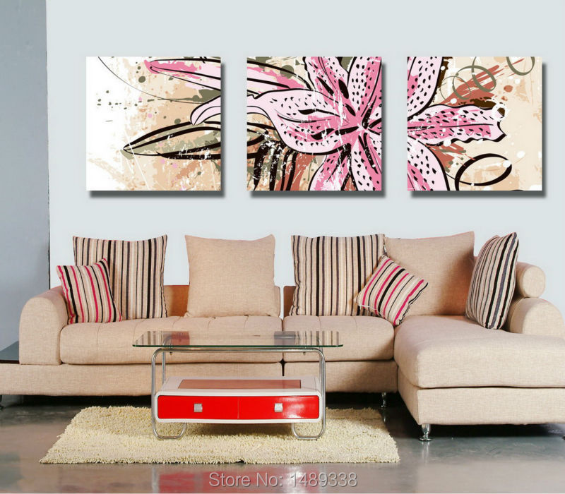 3 piece wall art canvas photo flowers painting home decoration modern pictures print on canvas framed art canvas sets T/627(China (Mainland))