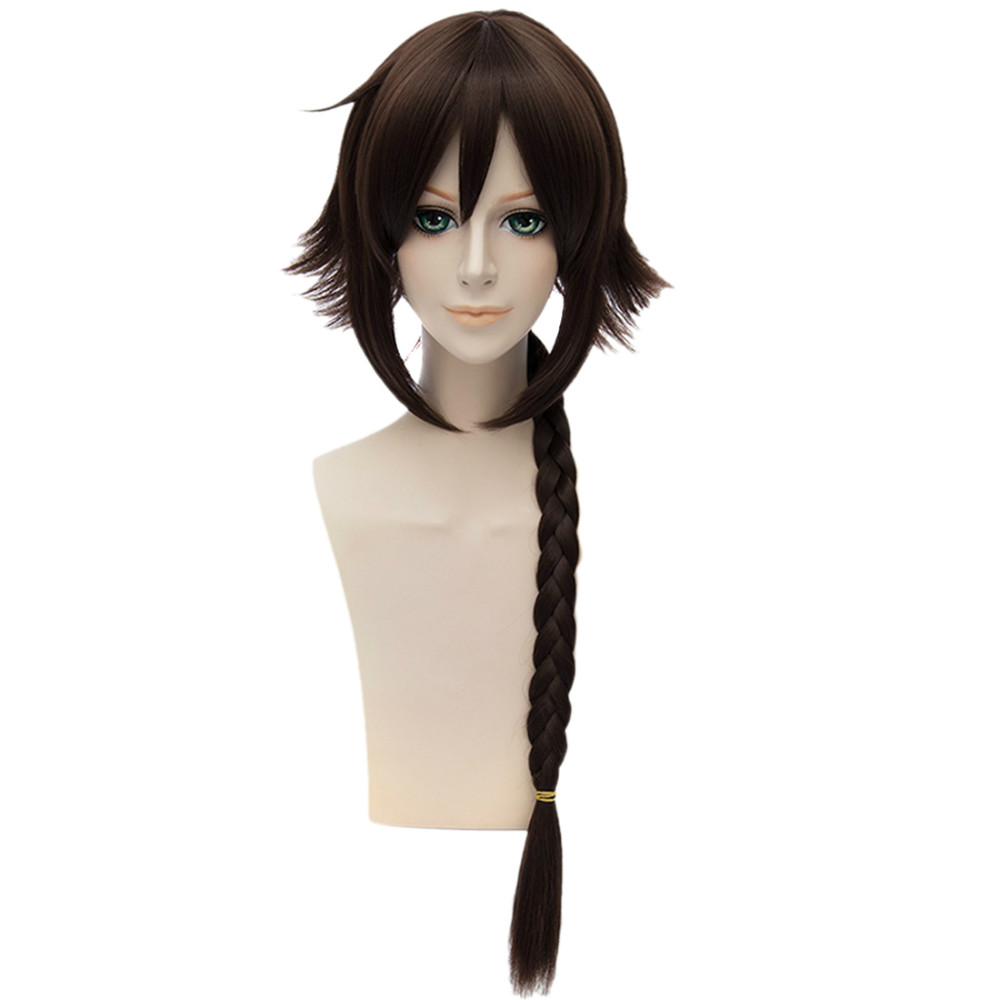 Kantai Collection Women Anime Cosplay Brown Plait Ponytail Long Haircut Wigs