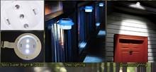 MIYOLE LED Solar Lamp 3LEDs led wall lamp security solar powered fence gutter solar light sensor waterproof solar light ip65(China (Mainland))