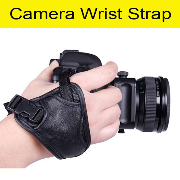 free shiping High Quality Faux Leather Hand Grip Wrist strap Photo Studio Accessories for Camera fit Nikon / Canon / Sony(China (Mainland))