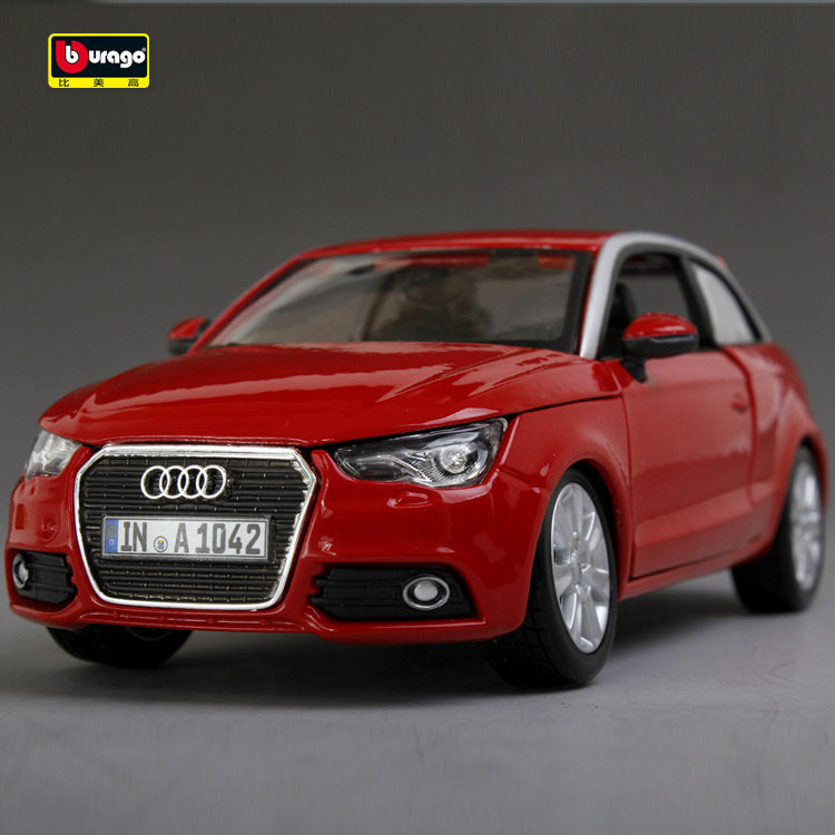 For Bburago models 1:24 Audi A1 original simulation model alloy automobile men gift Free shipping(China (Mainland))