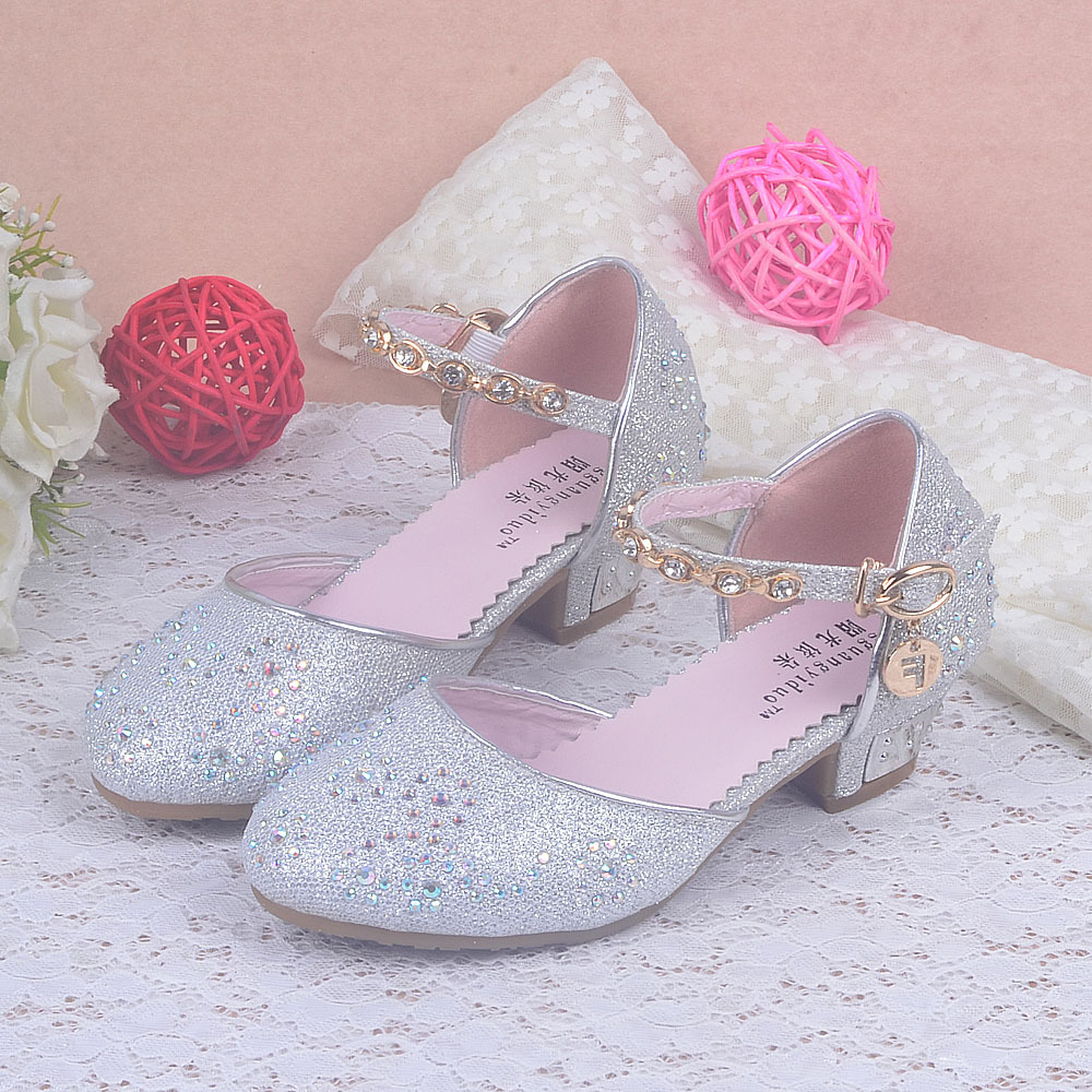 Enfants 2016 kids girls princess sandals chilren wedding for Girls dress shoes for wedding