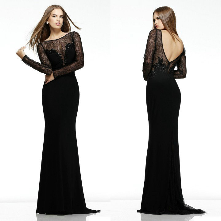 long sleeve prom dresses 2014