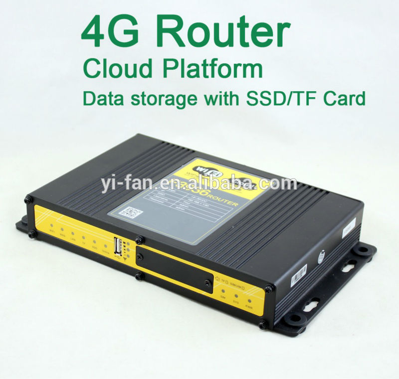 Support Cloud Platform 60 users connected industrial WIFI 4G advertising router FOR CAR BUS WIFI(China (Mainland))