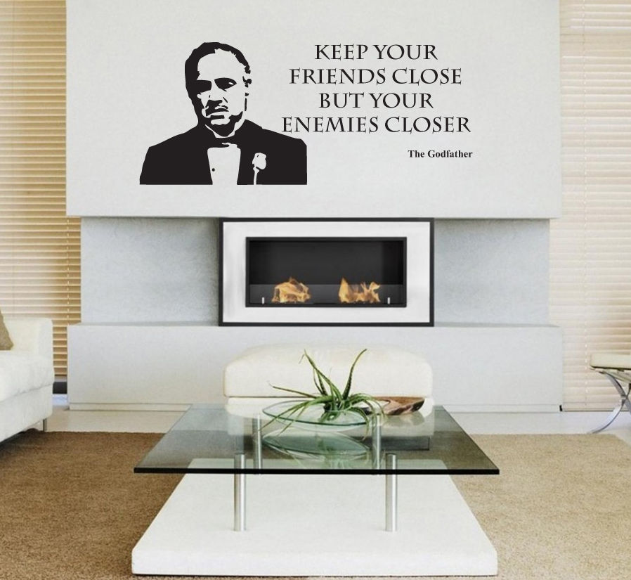 3d poster the godfather film movie wall sticker decal