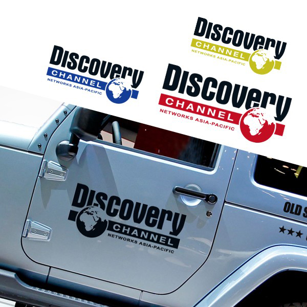 Discovery Channel Vinyl Reflective 5 Color Car Auto Decal Body Door Stickers for Jeep Wrangler SUV Offroad Vehicles Car-Styling