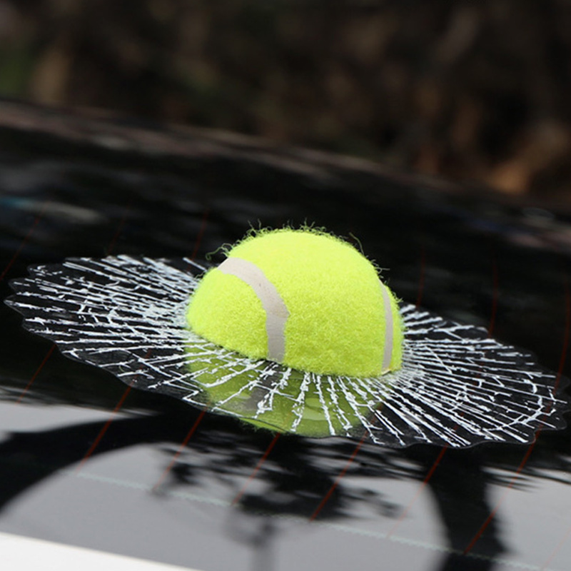 3D Car Stickers Funny Auto Car Styling Ball Hits Car Body Window Sticker Self Adhesive Baseball Tennis Decal Accessories(China (Mainland))
