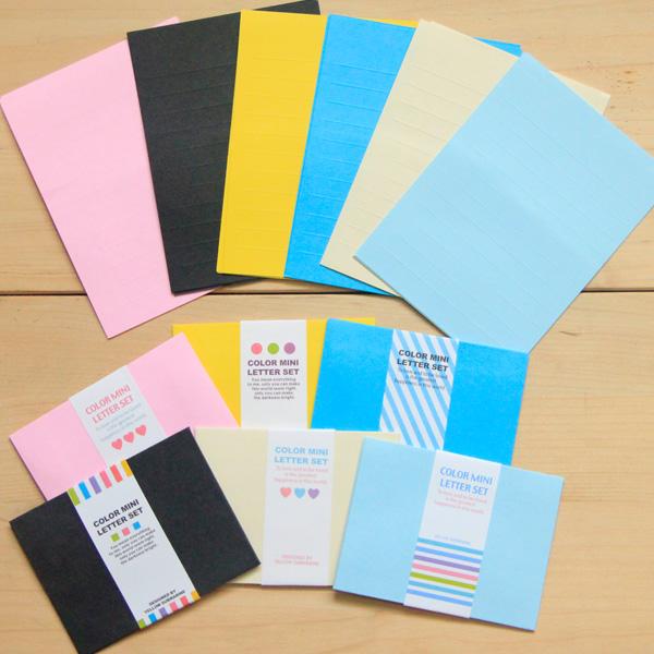 Wholesale 60 piece lot Luna park multicolour solid color mini envelope letter pad set 6<br><br>Aliexpress