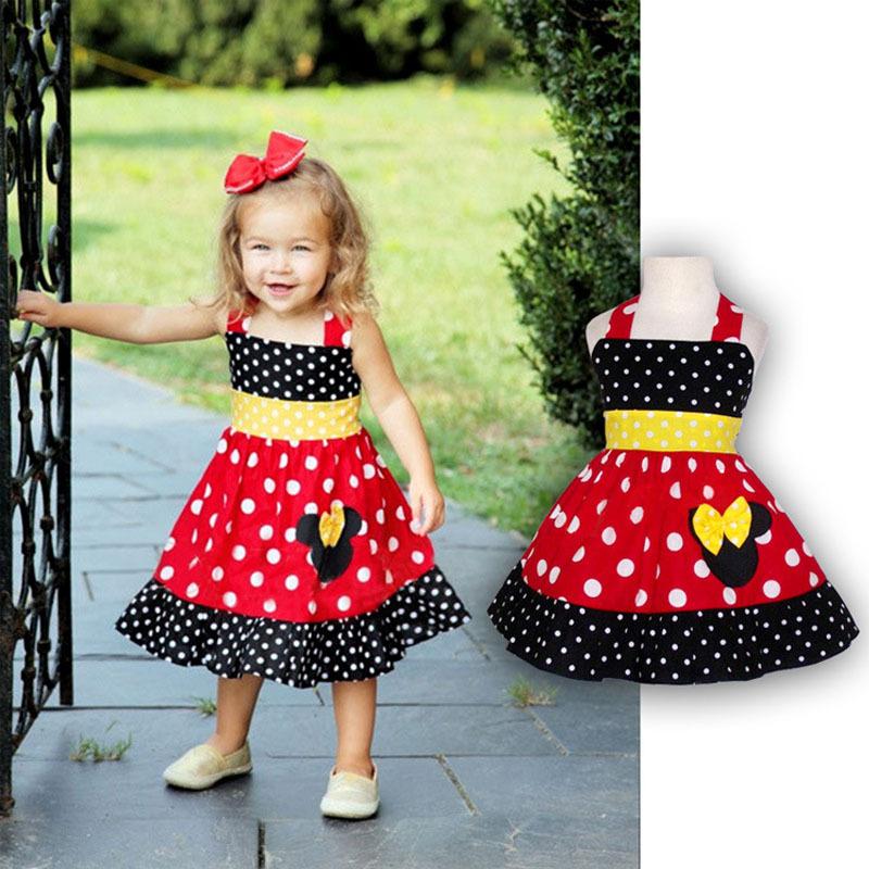 Toddler Girl Sleeveless Minnie Dress Summer Baby Girls Cartoon Mouse Chiffon Dresses vetement enfant Children's Clothing CA107(China (Mainland))