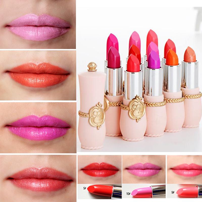 New Korean Cheap Waterproof Red Lipstick Makeup Cosmetic For Girl Sexy Beauty Lips Pen Matt Batom(China (Mainland))