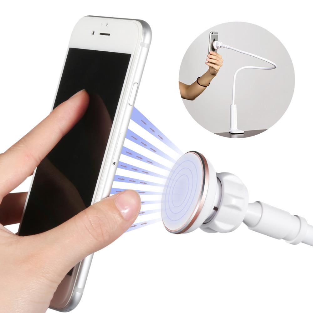 BENKS 360 Rotating Flexible Long Arm Metal Magnetic Cell Phone Holder Stand Magnet Lazy Bed Desktop Tablet Selfie Mount Bracket(China (Mainland))