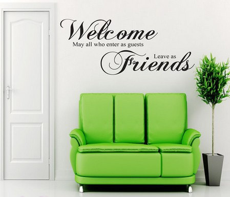 Wall Art Quote Sticker Lounge Hall Decal Wall Sticker Inspirational