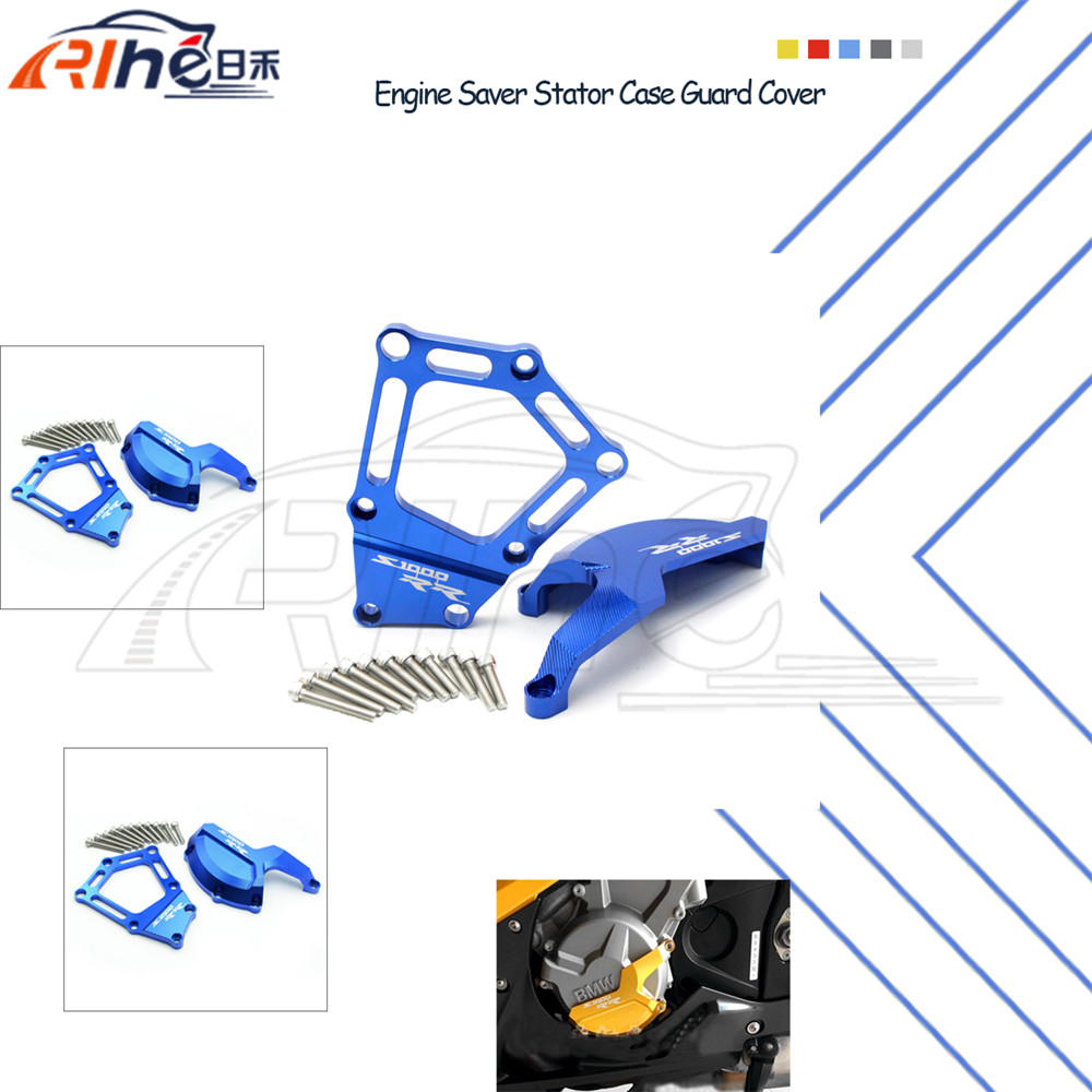 Фотография new motorcycle engine saver stator case guard cover blue frame slider protector For BMW S1000RR HP4 K42 K46 09 10 11 12 13 14 15