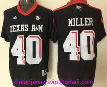 Cheap Men's Texas A&M Aggies Johnny Manziel Ricky Seals-Jones Von Miller Embroidery Logo Free Shipping(China (Mainland))