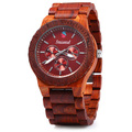 2016 New Fashion Seasonal Decorative Sub dials Male Quartz Watch Maple Band Wooden Watches Men for