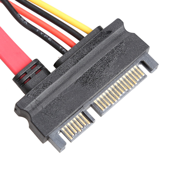 30CM New 22 Pin Male to Female 7+15 pin SATA Data Power Combo Extension Cable -29