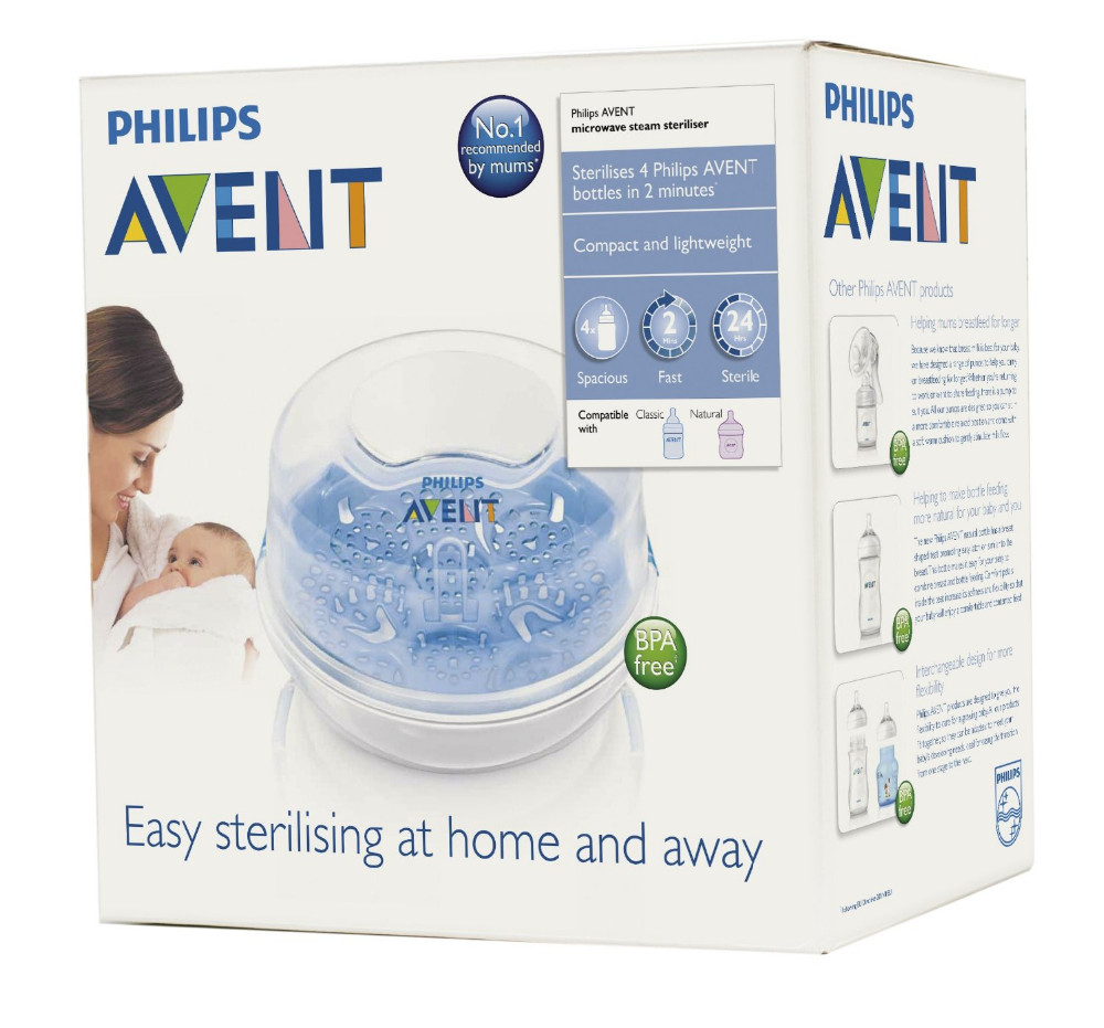 2016 100% Original AVENT Microwave Steam Sterilizer SCF281/02 for all avent baby bottle(China (Mainland))