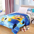 Queen Size 150 200cm Minions Cartoon Blankets Doraemon Plush Fleece Blanket Bed Throw Blanket on The
