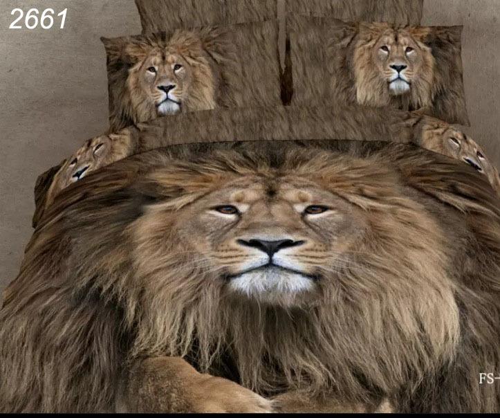 Lion Bedding set animal 3D Home Textile 4PCS Bed Linen Comforter cover Set Bedding For Home Luxury Duvet Cover Bedsheet B2661(China (Mainland))