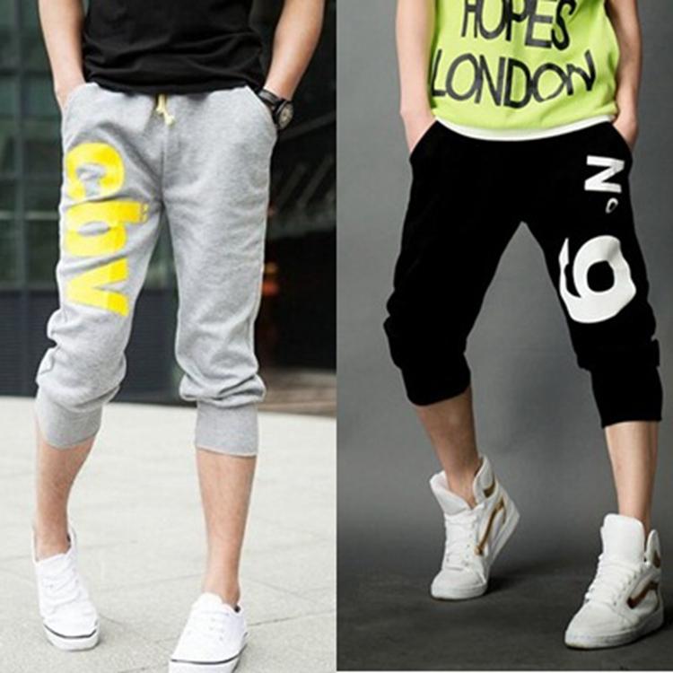 Men sport shorts casual knee length slacks training dance baggy jogger trouser gym running shorts male bermuda masculina overall(China (Mainland))